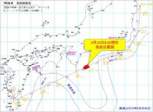 7MW風車 曳航経路図