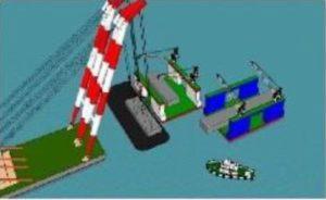 浮体処分 台船積み込み・運搬(鹿児島~スクラップ業者)